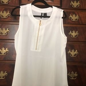 New Directions White Ladies Sleeve Top Size Large